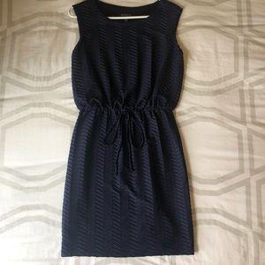 Dresses & Skirts - Navy Blue Chevron Dress